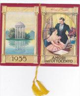 """CALENDARIETTO""""AMORI DELL'OTTOCENTO"""" AMORE POESIA ROMANTICISMO F.lli CELLA MILANO  1935-2-0882 -17533-532 - Calendriers"""