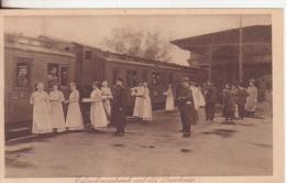 9-Deutschland-Germania-Stazione Ferroviaria-Innerhalb Bahnhof-Gare-Railway Station-CroceRossa-Rotes Kreuz-CroixRouge-New - Stazioni Con Treni