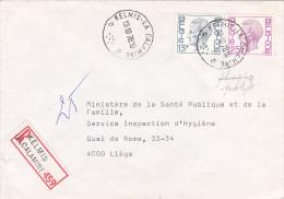 1747+1748 Op Brief Aangetekend Met Stempel KELMIS-LA CALAMINE (oostkantons) - 1970-1980 Elström