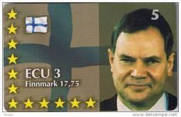 Denmark, P 330, ECU-Finland,  Mint, Only 700 Issued, Statesman, Politician, Flag. - Danemark