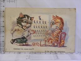 CPA Illustrateur Michaelis - Humour Chat - Opticien Ophtalmologiste - Lunettes - Carte Avec Bruit - Cats