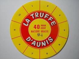 TGE17009 - étiquette De Fromage LA TRUFFE D´AUNIS 40% - Fromagerie De Bois-Hardy Par Marsais - Charente-Maritime - Fromage