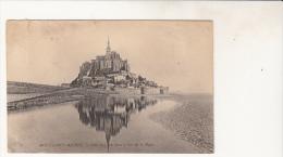 Mont Saint Michel  Coté Sud Prise De La Digue - Le Mont Saint Michel
