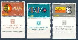 Israel - 1964, Michel/Philex No. : 301/302/303,  - MNH - *** - Full Tab - Neufs (avec Tabs)