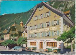 Göschenen : PEUGEOT 403 - Hotel Weisses Rössli - Gotthardstrasse, Familie Zgraggen - Suisse/Schweiz - Voitures De Tourisme