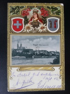 CP Carte Postale Postkarte Cartolina Basel Rheinansicht Litho Lithographie Gaufrée (4) - BL Basle-Country