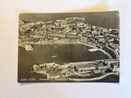 ISOLA D'ELBA PORTOFERRAIO VIAGGIATA 1957 VEDUTA DALL'ALTO - Livorno