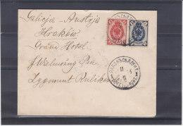 Russie - Lettre De 1903 - Expédié Vers L'Autriche - 1857-1916 Empire