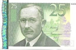 ESTONIA 25 KROONI 2007 BANK NOTE MONEY UNC - Estonia
