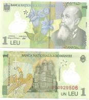 ROMANIA 2005 1 LEI   FLOVER  UNCIRCULATED - Romania