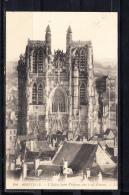 FRANCE 80.(SOMME).CPA. ABBEVILLE. L´EGLISE SAINT-VULFRAN VUE A VOL D'OISEAU . CIRCULÉE 1910 AVEC TIMBRE - Abbeville