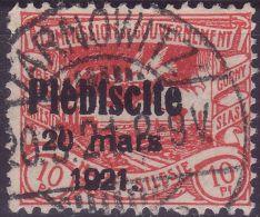 OBERSCHLESIEN Mi.-Nr. 30 O TARNOWITZ - Zahnmängel - Territoires Soumis à Plébiscite