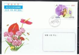 NORTH KOREA 2013 BEES AEROGRAM CANCELED - Abeilles