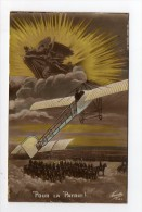 CPA WW1 Militaria Patriotique Aviation 14-18 Edition Fauvette - Patriotic