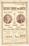 7211 - Jean Flor    Marjal    Vincent Scotto      Lorsque L'Amour Vous Guette - Scores & Partitions
