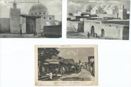 Afrique-Tunisie KAIROUAN Lot,ensemble De 3 Cpa-voir Scans R/V De Toutes Les Cartes Voir Description*PRIX FIXE - Tunisie