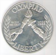 STATI UNITI 1 DOLLAR 1988 OLYMPIAD USA SILVER FONDO SPECCHIO - Emissioni Federali