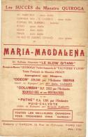 7237 - Maestro Quiroca     Maria Magdalena - Partitions Musicales Anciennes