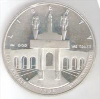 STATI UNITI 1 DOLLAR 1984 XXII OLYMPIAD LOS ANGELES SILVER FONDO SPECCHIO - Emissioni Federali