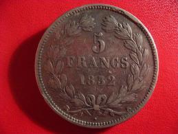 5 Francs Louis-Philippe 1832 K Bordeaux 2452 - France