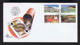 Transkei 1983 Fdc MZAMBA Sports Golf Tennisswimming Casino Landscape Windsurfing Games Tourisme Vacances Holidays Gc1352 - Holidays & Tourism