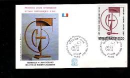 Enveloppe Premier Jour 1er Fdc Année Culturelle France Danemark 1988 ParisN° 1604 - 1980-1989