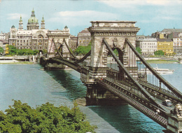 Yugoslavia--Budapest--1973--Chain Bridge  S-XIX---Fechador-Budapest--a Lorient, Francia - Yugoslavia