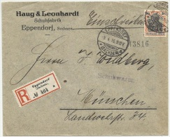 Germany 1916 Registered - Einschreiben - Recommandée Cover - Deutschland