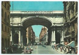 Cpsm Bon Etat , 10,5x15cm    Carte Rare ,  Genova , Rue XX Septembre , Timbre , Courrier , Voir Au Verso - Genova (Genoa)
