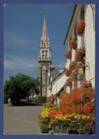 22 SAINT-GILLES-VIEUX-MARCHE Hôtel Touristes Nevo Le Bihan ; Fleurs, église - Saint-Gilles-Vieux-Marché