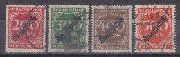 DR D 78-81, Gestempelt - Dienstzegels