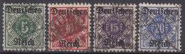 DR D 52-55, Gestempelt - Dienstzegels