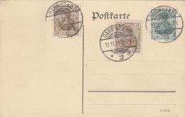 11.11.11, Stempeldatum Schnapszahl, Auf DR 2x 84 I, 85 I MiF Auf Karte Mit  Stempel: Darmstadt 11.11.11 11-12V - Germany