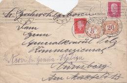 Italien Porto 5, 22 MiF Auf Nachgesandtem Brief Mit DR 413, 414 Von Bresla 2.4.1929 über Nürnberg Nach Genua - Postage Due
