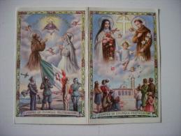 """Calendarietto Santino """"Sempre Ed Ovunque Proteggetemi"""" """"Gran Dio Benedite L´Italia"""" 1943 - Calendari"""