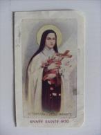 "Calendarietto/calendario Santino ""Année Sainte 1950 - S.Teresia A Jesu Infante"" Gioventù Antoniana - Calendari"