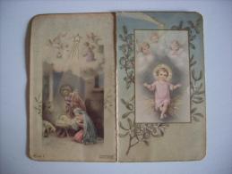 Calendarietto/calendario Santino Nascita Gesù Bambino - Santo Natale 1943 - Calendari