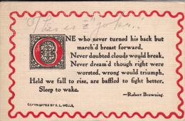 Poem By Robert Browning - Cartes Postales