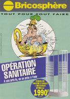 Astérix. Un Soldat Romain Dans Sa Baignoire Cygne. Catalogue PUB Bricosphère. Opération Sanitaire. 1999 - Objets Publicitaires
