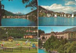 Bad-St.Moritz Mit Piz Margna,Segel Auf Dem St.Moritzer -See, Miniaturgolf Und Hotel Du Lac Bad-St.Moritz - GR Grisons