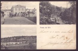 PONTE DE SÔR / PORTALEGRE / ALENTEJO / PORTUGAL. Três Vistas. Animado.Old Postcard - Portalegre