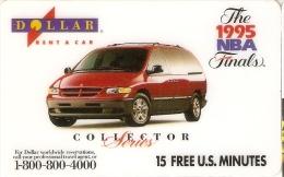 TARJETA DE ESTADOS UNIDOS DE GTI DE UN COCHE (CAR) THE 1995 NBA FINALS - Auto's