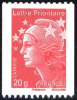 YT4572 FR2011 Marianne Et L´Europe Lettre  20g, Roulette - Francia