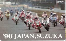 TARJETA DE JAPON DE MOTOS (MOTO-MOTORBIKE) SUZUKA 90 - Motos