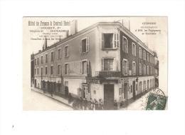CPA : 36- Indre : Châteauroux : Hôtel De France & Central Hôtel + Garage : Duchet : Bâtiment - Animation - - Chateauroux