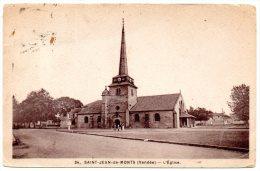 CP, 85, ST JEAN DE MONTS, L'Eglise, Voyagé 1950 - Autres Communes
