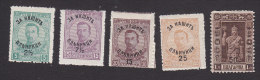 Bulgaria, Scott #B2, B4, B6-B8, Mint Hinged, Tsar Boris III And Ferdinand In Robes Surcharged, Issued 1920 - 1909-45 Kingdom