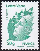 YT4593 FR2011 Marianne Et L´Europe Lettre Verte 20g - Francia