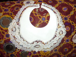 Bavoir Ancien Coton Dentelle - 1900-1940