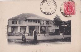 CPA NIGERIA LAGOS Woermann Linie Agency  Avec Timbre One Penny. 1910 - Nigeria